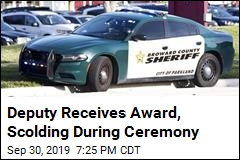 Deputy Receives Award, Scolding During Ceremony