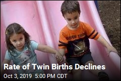 Twin Birth Rate Reverses, Falls