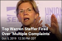 Warren Fires Top Staffer Over 'Inappropriate' Acts