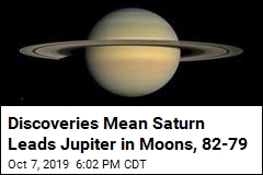 20 New Moons Are Discovered, Putting Saturn Ahead of Jupiter