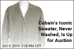 Cobain's Iconic Sweater, Never Washed, Is Up for Auction