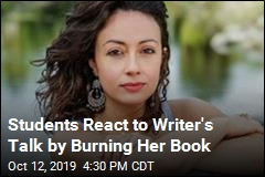 Students React to Writer's Talk by Burning Her Book