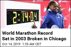 World Marathon Record Set in 2003 Broken in Chicago