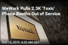 New Headache for WeWork: Toxic Phone Booths