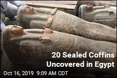 20 Sealed Coffins Uncovered in Egypt