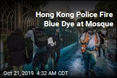 Hong Kong Cops Fire Water Cannon at Mosque