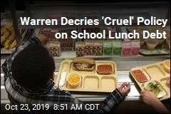 Warren Decries 'Cruel' Policy on School Lunch Debt