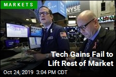 Tech Gains Fail to Lift Rest of Market