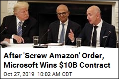 $10B Defense Contract Goes to Microsoft, to Amazon's Surprise
