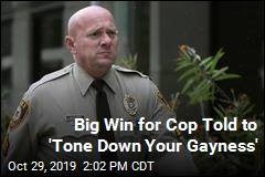 Big Win for Cop Told to 'Tone Down Your Gayness'