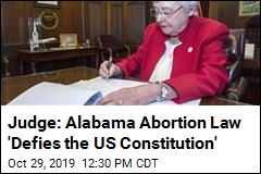 Alabama Law That Nearly Outlaw Abortion Is Blocked