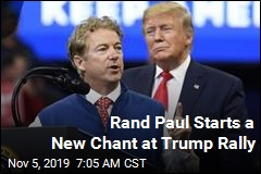 Rand Paul Starts a New Chant at Trump Rally