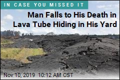 He Was Trimming Trees in His Yard, Didn't See the Lava Tube