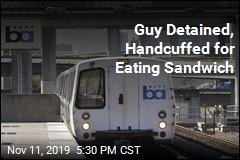 Transit Officer Detains Guy for Eating Sandwich