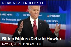 Biden Makes Debate Howler