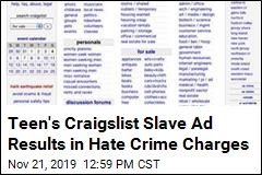 Craigslist Ad Results in Hate Crime Charges for Teen