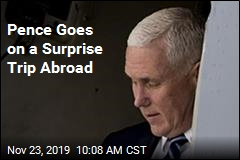 Pence Goes on a Surprise Trip Abroad