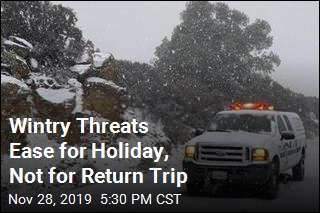 Winds, Snow Let Up for Holiday, but not for Return Trips