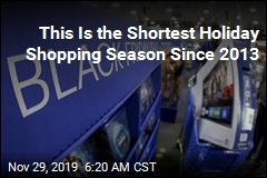 This Is the Shortest Holiday Shopping Season Since 2013