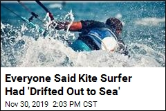 Kite Surfer 'Drifts Out to Sea'