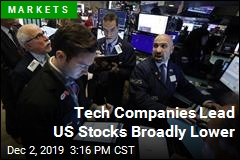 Tech Companies Lead US Stocks Broadly Lower