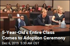 Boy, 5, Brings Whole Kindergarten Class to Adoption Ceremony