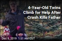 4-Year-Old Twins Climb for Help After Crash Kills Father