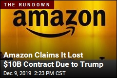 Amazon Blames Trump for Losing $10B Contract