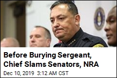 Before Burying Sergeant, Chief Slams Senators, NRA