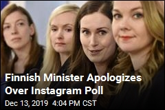 Finnish Minister Apologizes Over Instagram Poll