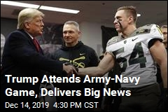 Trump Attends Army-Navy Game, Delivers Big News