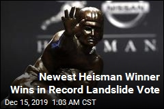 Newest Heisman Winner Wins in Record Landslide Vote