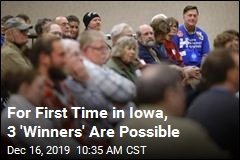 For First Time in Iowa, 3 'Winners' Are Possible
