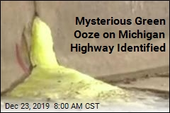 Mysterious Green Ooze on Michigan Highway Identified