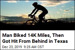 Man Trying to Bike Around the World Is Hit in Texas