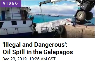 Out-of-Control Crane Causes Galapagos Oil Spill