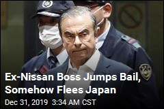 Ex-Nissan Boss Jumps Bail, Flees Japan