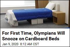 For First Time, Olympians Will Snooze on Cardboard Beds