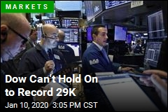 Dow Can't Hold On to Record 29K