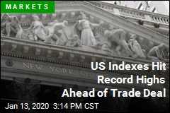 US Indexes Hit Record Highs Ahead of Trade Deal