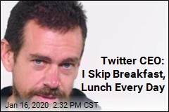 Twitter CEO: I Eat Just 7 Meals a Week