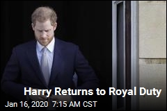 Harry Returns to Royal Duty