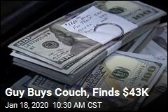 Guy Makes Incredible Find in Used Couch