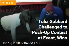 Tulsi Gabbard Challenged to Push-Up Contest at Event, Wins