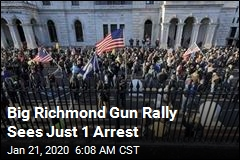 Just One Arrest at Richmond Rally