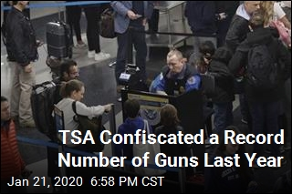 TSA Confiscated a Record Number of Guns Last Year