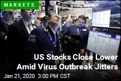 US Stocks Close Lower Amid Virus Outbreak Jitters