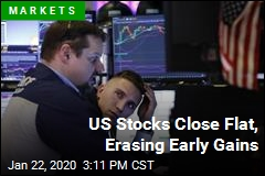 US Stocks Close Flat, Erasing Early Gains