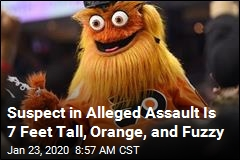 Suspect in Alleged Assault Is 7 Feet Tall, Orange, and Fuzzy