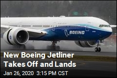 New Boeing Jetliner Takes Off and Lands